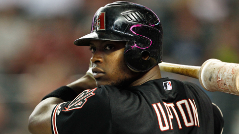 Outfielder Justin Upton is signed with the D-backs through the 2015 season.